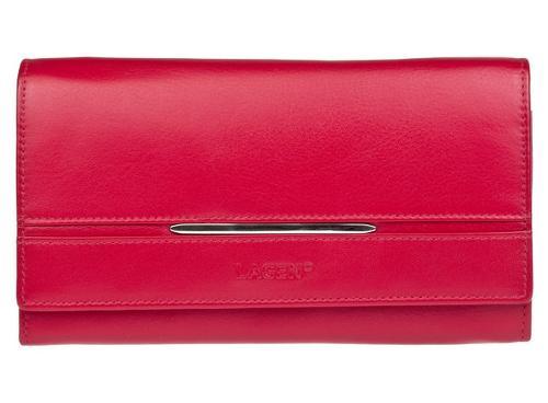 velká dámská kožená peněženka červená