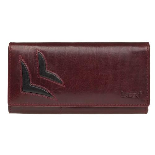 dámská vínová kožená peněženka Lagen
