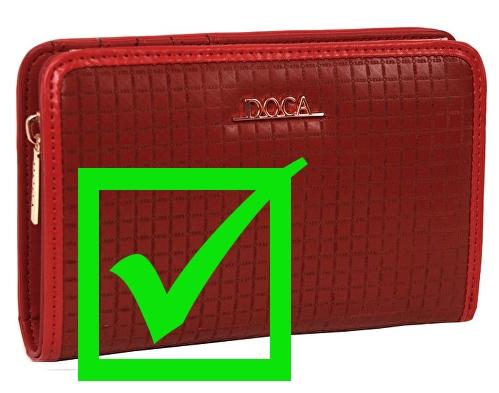 dámská červená peněženka Doca