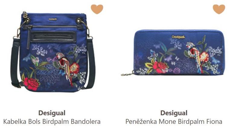 Desigual kabelky a peněženky Birdpalm