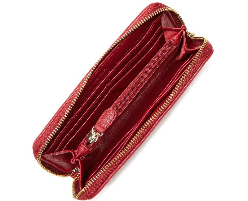 červená peněženka Joe´s Jeans Autograph Perforated