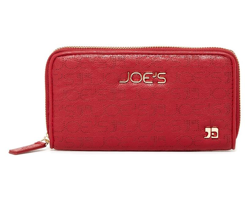 červená peněženka dámská Joe´s Jeans Autograph Perforated
