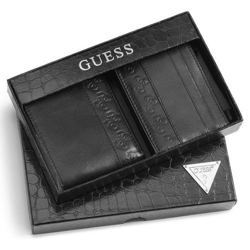 pánská kožená peněženka Guess dárková sada s pouzdrem na vizitky