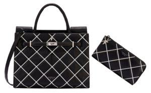 peněženka s kabelkou fiorelli černobílý set