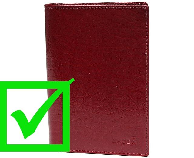 červená kožená dokladovka Lagen