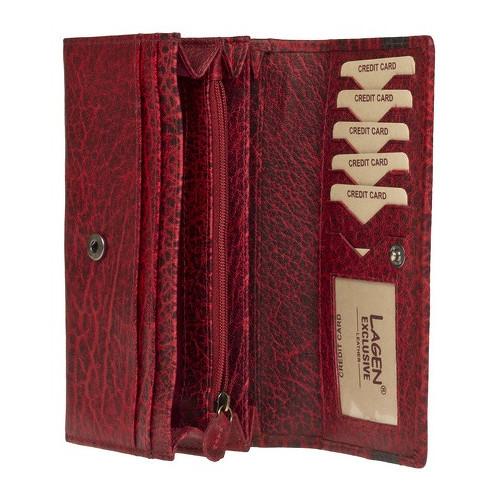 Velká dámská červená peněženka Lagen