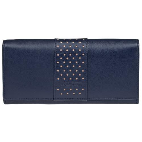 modrá velká dámská kožená peněženka Lagen