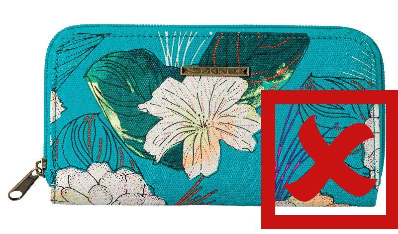 tyrkysová peněženka dakine lumen pualani blue canvas