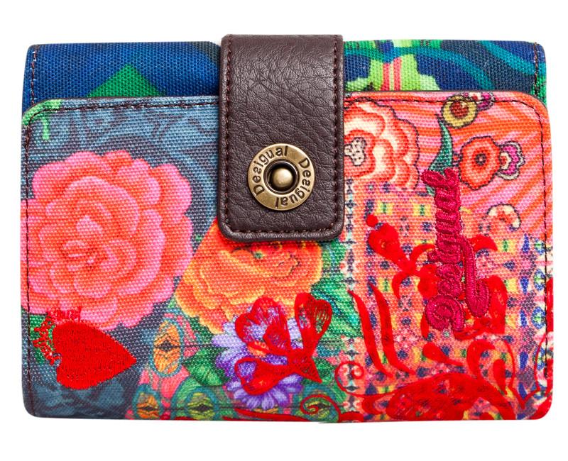 barevná peněženka Desigual Lengüeta S Ashbury New Rojo Fuerte