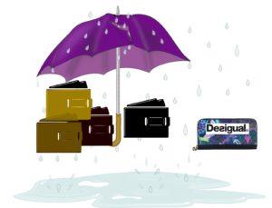 peněženka Desigual na dešti