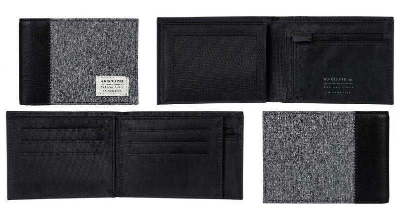 pánská sportovní peněženka Quiksilver Freshnessplus šedá