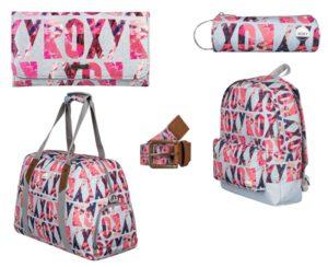 Roxy peněženka, penál, batoh, taška a opasek.